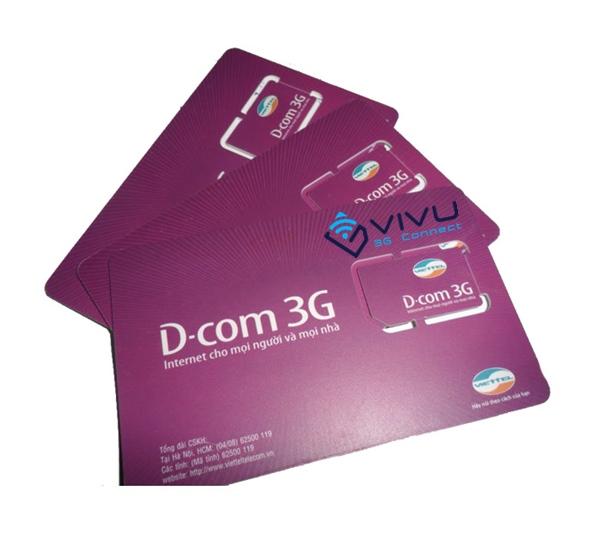 gói sim Dcom 3G Viettel