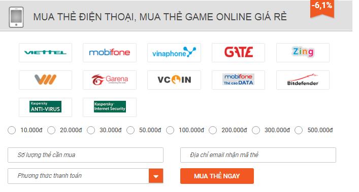 cách ma thẻ gate online