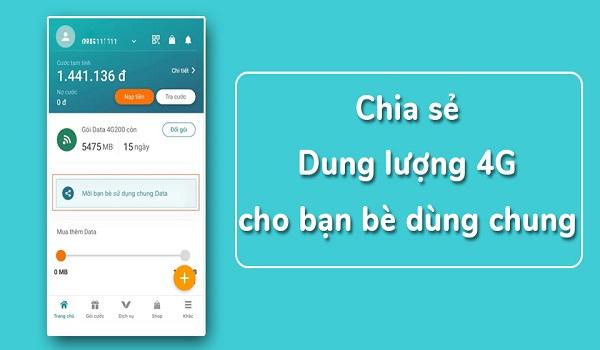 cách chia sẻ data 4G Viettel cho thuê bao nội mạng