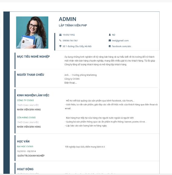 Thiết kế CV xin việc