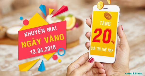Viettel-khuyen-mai-20-gia-tri-the-nap-ngay-13-4-2018