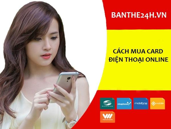 cách mua card điện thoại online