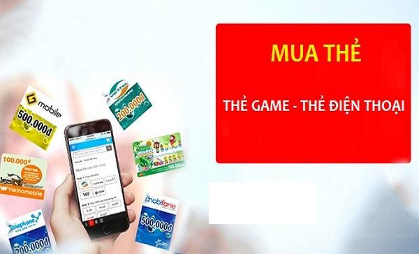 cách mua thẻ điện thoại, thẻ game cùng lúc