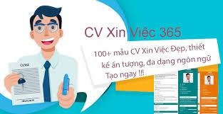 cv xin việc ấn tượng tại CV365