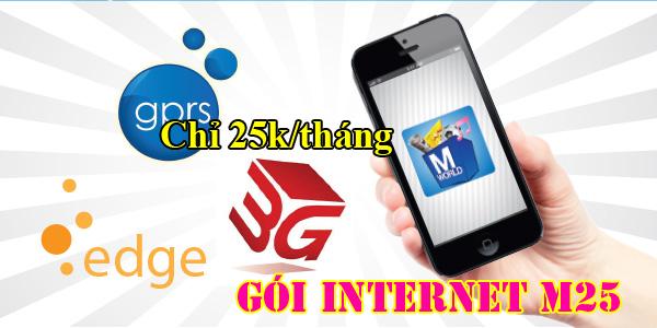 đăng kí gói cước 3G M25  Mobifone