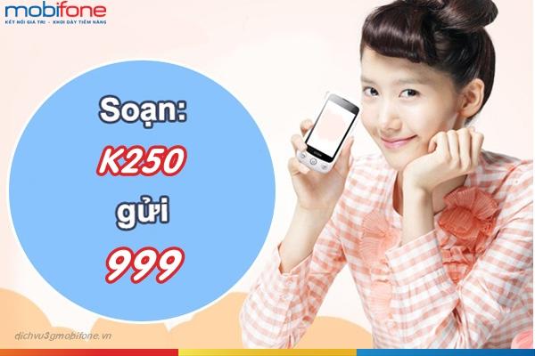 gói cước K250 Mobifone