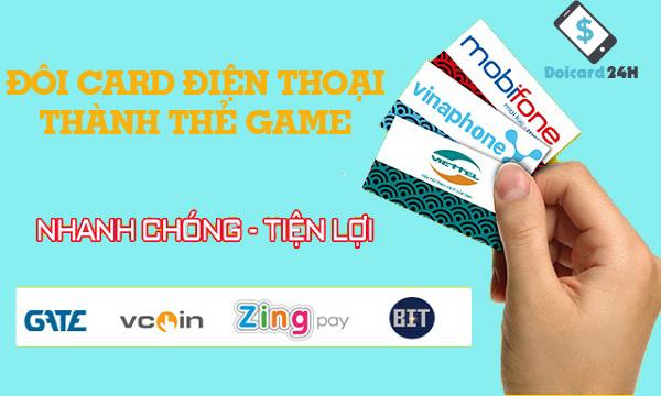 đổi card điện thoại thành thẻ game