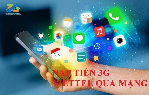 nạp tiền 3G Viettel qua mạng