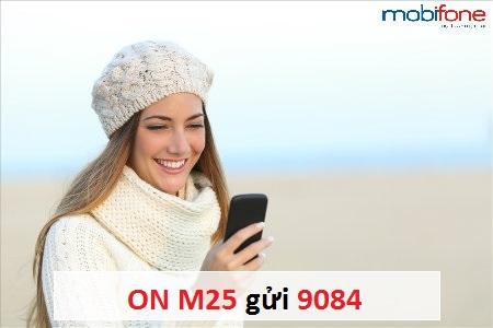 gói cước 3G M25  Mobifone