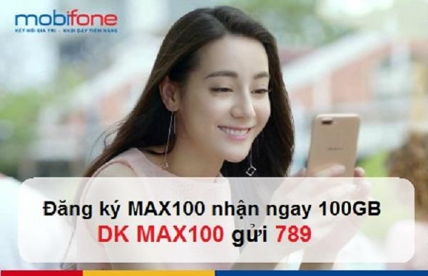 Đăng ký gói Max100 Mobifone