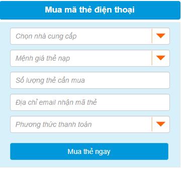 mua mệnh giá thẻ Vietnammobile