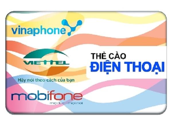 mua card điện thoại mạng Viettel, Mobi, Vina