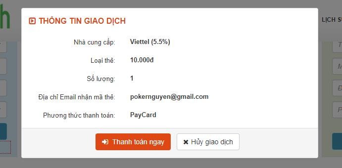 mua thẻ cào online bằng tài khoản thành viên