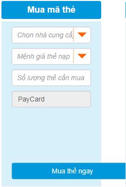mua thẻ cào game