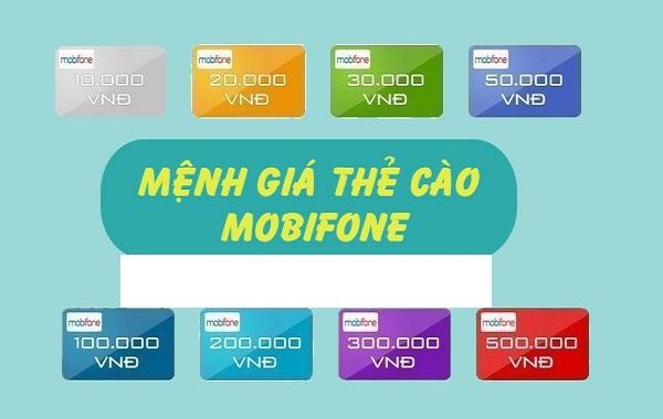 mua thẻ cào Mobifone đơn giản