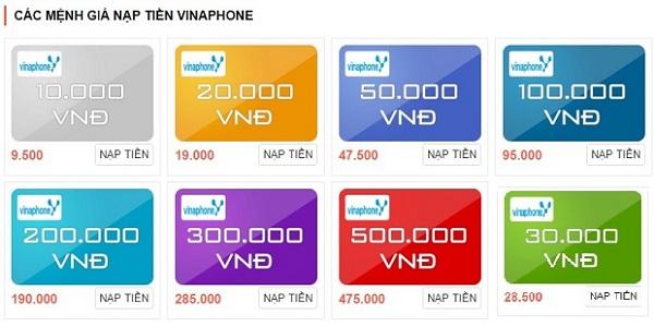 mua thẻ cào vinaphone online