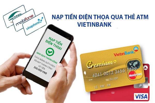 mua thẻ điện thoại bằng tài khoản Vietinbank