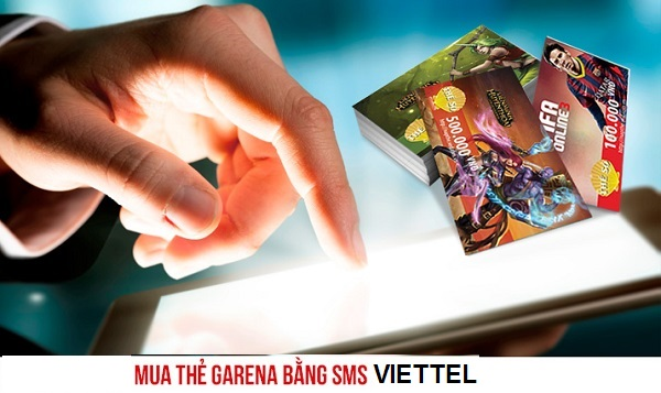 mua thẻ game Garena bằng sms Viettel