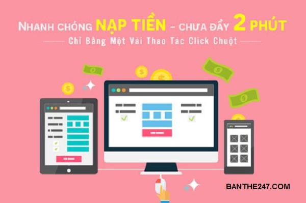 Mua thẻ điện thoại online, nạp tiền điện thoại online