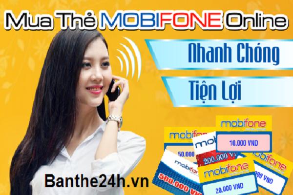 nạp tiền Mobifone online, mua card Mobi đơn giản
