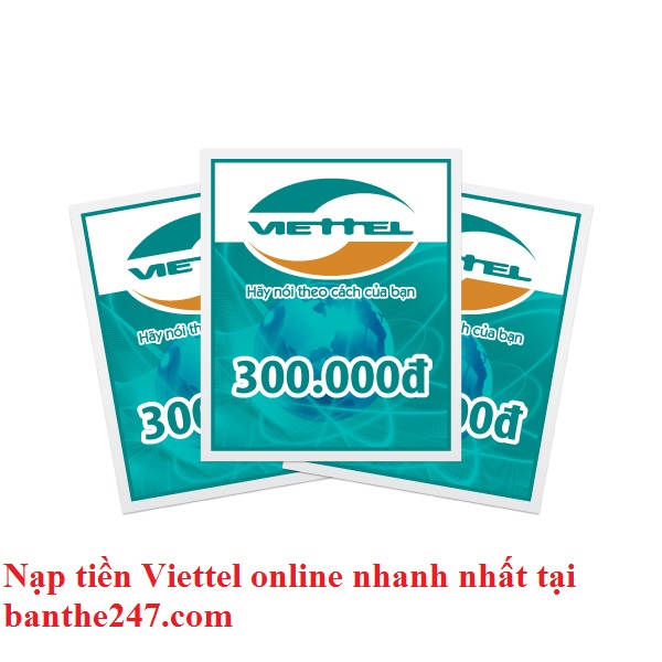 mua thẻ cào online viettel