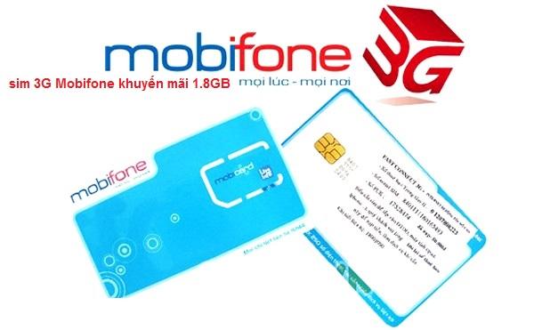 sim 3G Mobifone khuyến mãi 1.8GB