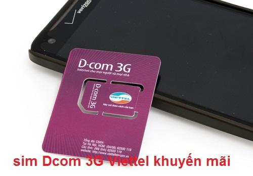 sim Dcom 3G Viettel khuyến mãi