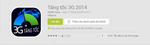 tăng tốc cho gói cước 3G Vinaphone