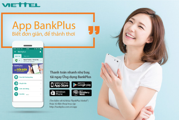 cách nạp tiền điện thoại viettel bằng bankplus