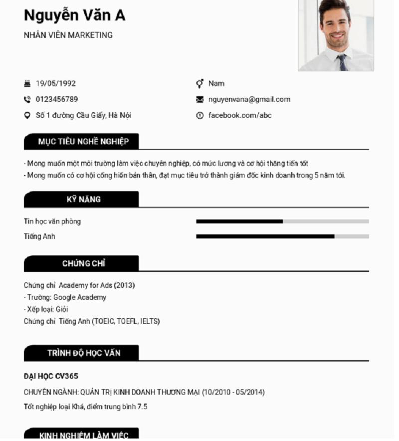 Các bước không thể thiếu để có một CV hoàn hảo