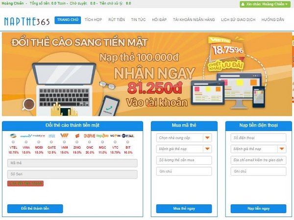 website-doi-the-cao-thanh-tien-napthe365