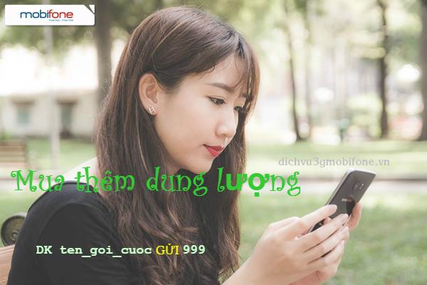 Cách mua thêm dung lượng 3G của Mobifone