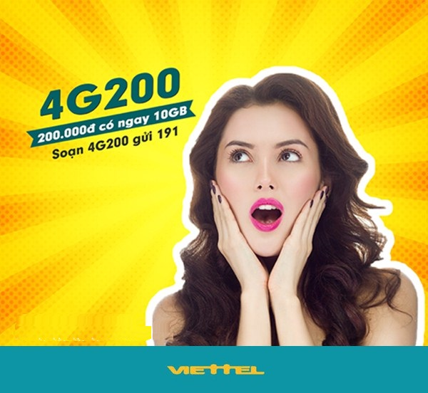 Hướng dẫn chi tiết cách đăng ký gói cước 4G200 Viettel