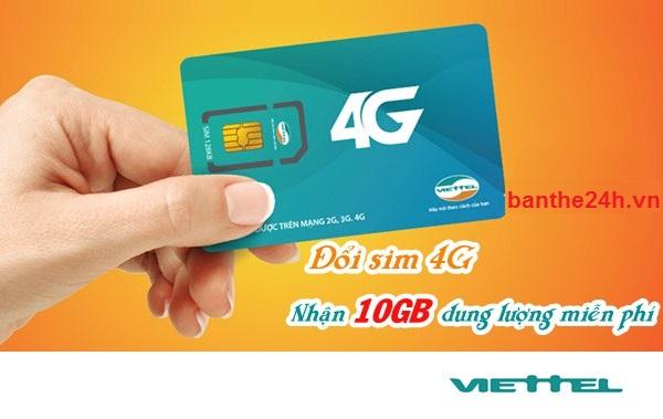 Nhận ngay ưu đãi khi thực hiện đổi sim 4G viettel