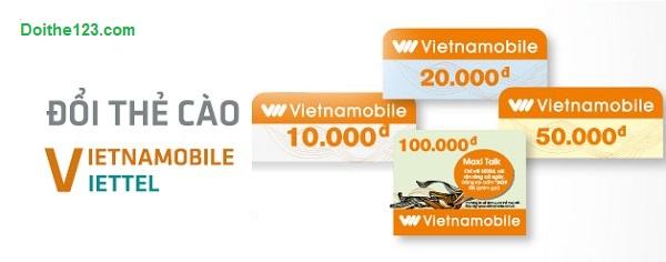Đổi thẻ cào Viettel thành Vietnamobile ưa đãi cao nhất