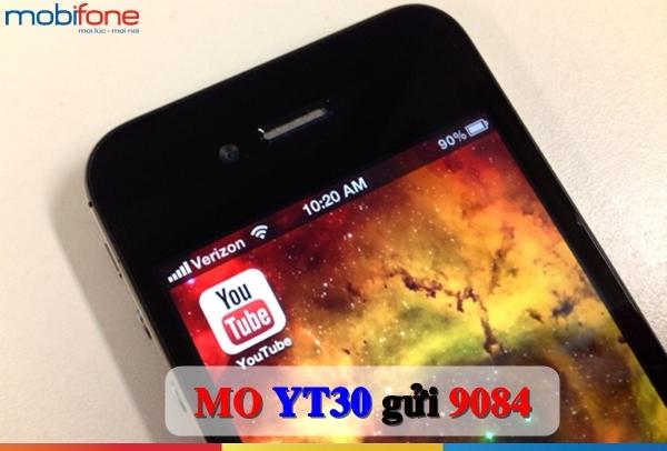 Hướng dẫn cài gói cước Youtube Mobifone xem video miễn phí tốc độ cao