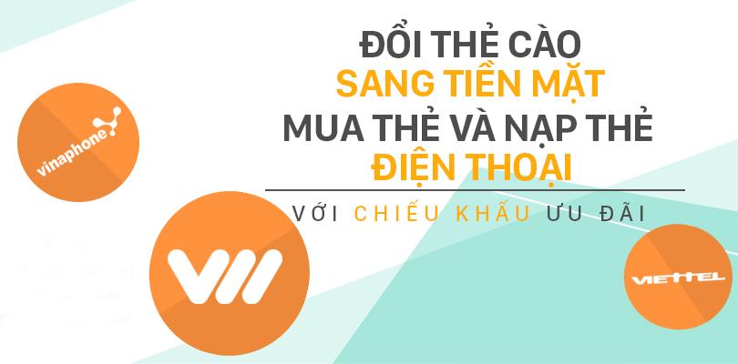 Đổi thẻ cào Vietnamobile thành tiền mặt ưu đãi nhất