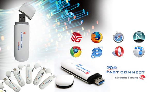 Fast Connect Mobifone gói cước 3G cho PC và Laptop tiện ích