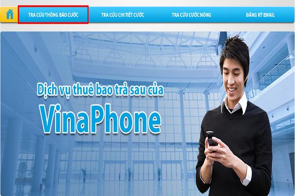 Billing Vinaphone - Cổng tra cứu thông tin dành cho thuê bao trả sau Vinaphone