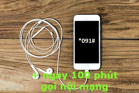 Khuyến mãi Vinaphone tặng ngay 100 phút gọi nội mạng khi bấm *091#