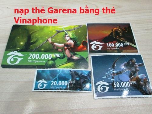 Hướng dẫn chi tiết nhất cách nạp thẻ Garena bằng thẻ Vinaphone