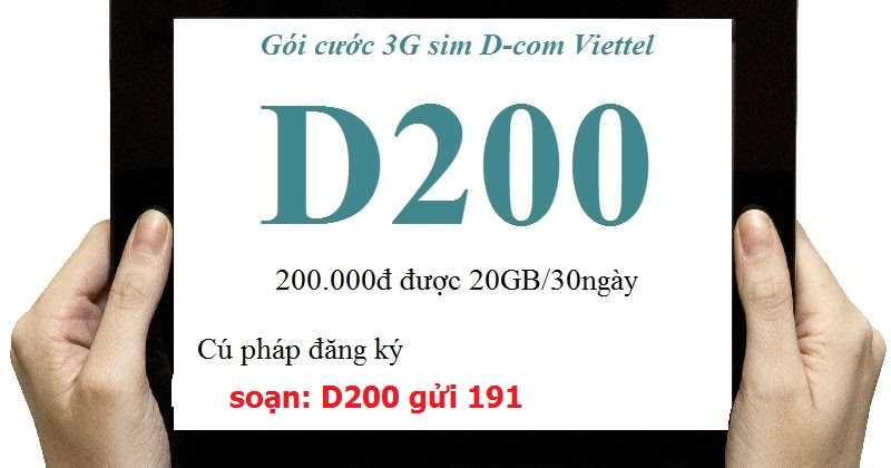 Làm sao để đăng kí gói cước D200 Viettel nhanh nhất?