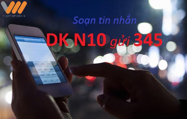 Học nhanh cách đăng kí gói cước ban đêm N10 của Vietnamobile