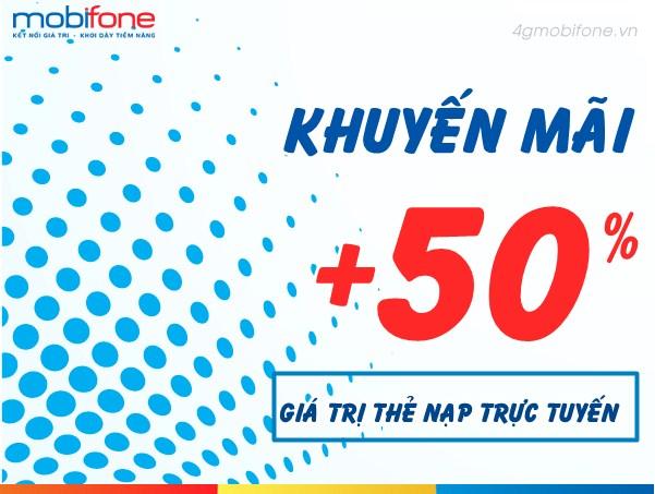 Mobifone khuyến mãi ngày vàng thứ 6 hằng tuần với 50% giá trị thẻ nạp ngày 4/8/2017