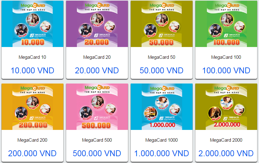 Đổi thẻ cào Megacard thành tiền mặt chiết khấu hấp dẫn