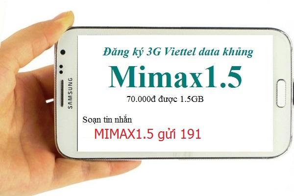 Hướng dẫn chi tiết cách đăng kí gói Mimax1.5 Viettel