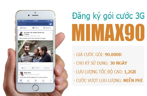 Hướng dẫn chi tiết cách đăng kí gói Mimax90 Viettel