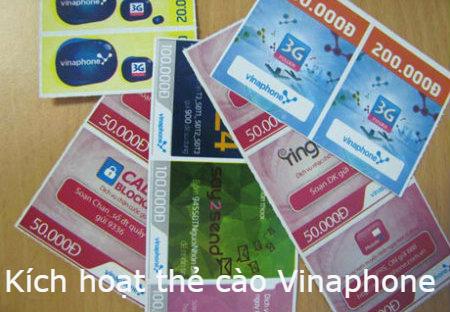 Hướng dẫn kích hoạt thẻ cào điện thoại Vinaphone