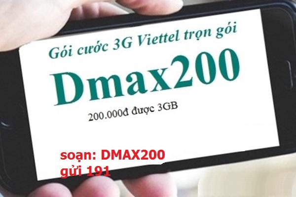 Đăng ký gói Dmax200 viettel nhận ngay ưu đãi khủng