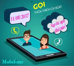 Chương trình khuyến mãi nạp thẻ Mobi tặng 50% giá trị thẻ nạp ngày 11/08/2017